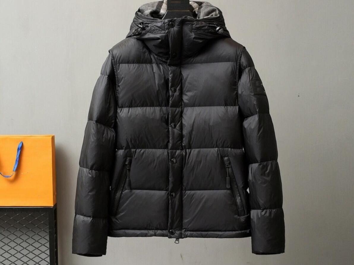 Mens detachable down vest sleeves couple models outdoor big fur collar down jacket winter jacket men's jacket popular all-match casual hip-