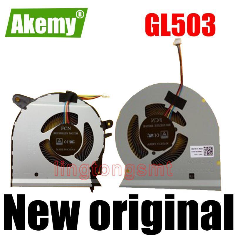 Neue Original cpu gpu-Lüfter für Asus ROG GL503 GL503VM FAN KÜHLER DC 12V 1A