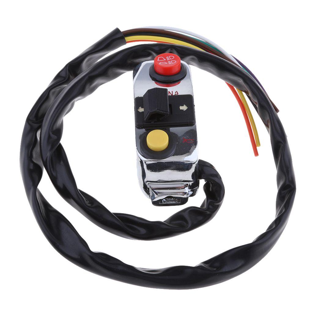 Luz LED Guiador Chifre Gire a chave Signal Light Controller para a motocicleta