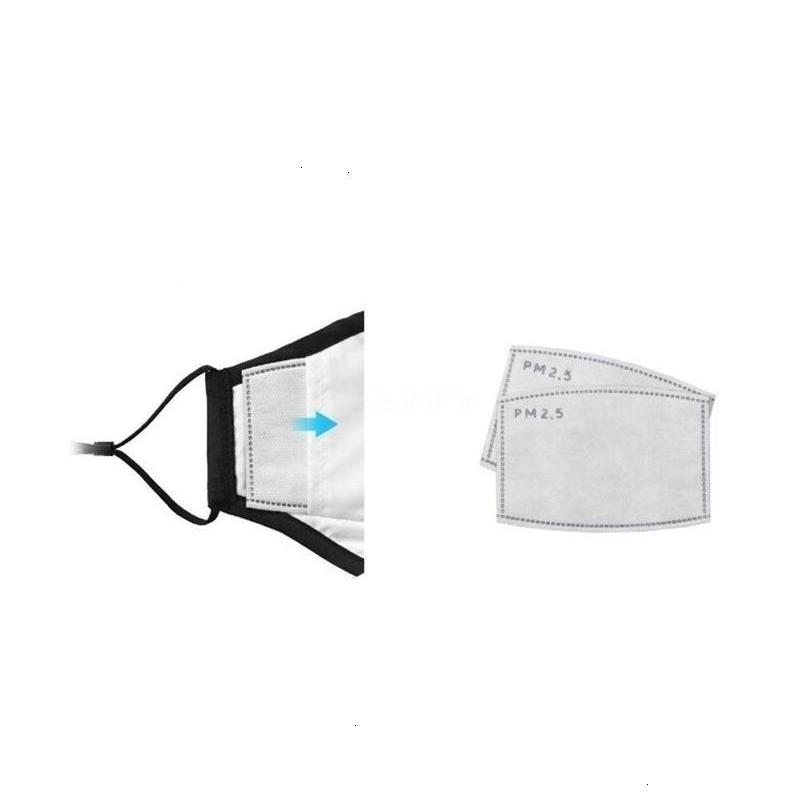 Activer PM2,5 Pads couche Pm 2.mask FREE! Mascarillas Filtre carbone 5 antipoussière de base de remplacement masque seulement
