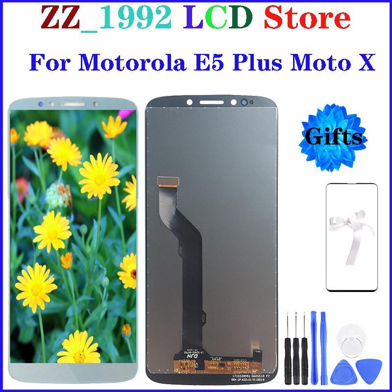 6.0 سوبر جودة OEM استبدال LCD لموتورولا موتو E5 زائد XT1924 موتو X LCD تعمل باللمس عرض الجمعية محول الأرقام مع الهدايا