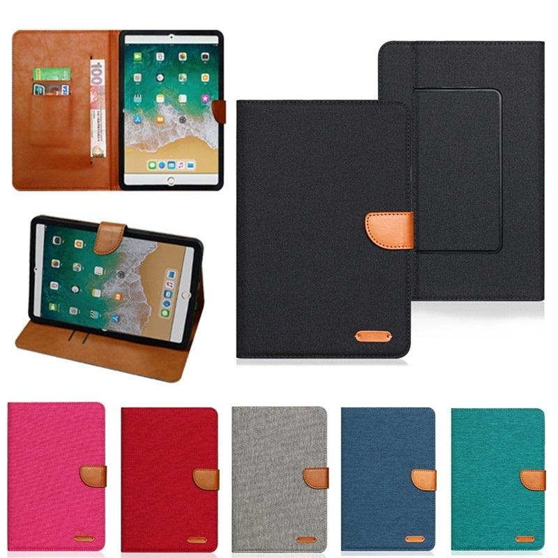 Universal Wallet Card Slot Flip Stand PU Leather Phone Case For mini iPad 9.7 Samsung 7 8 9 10 inch Tablet