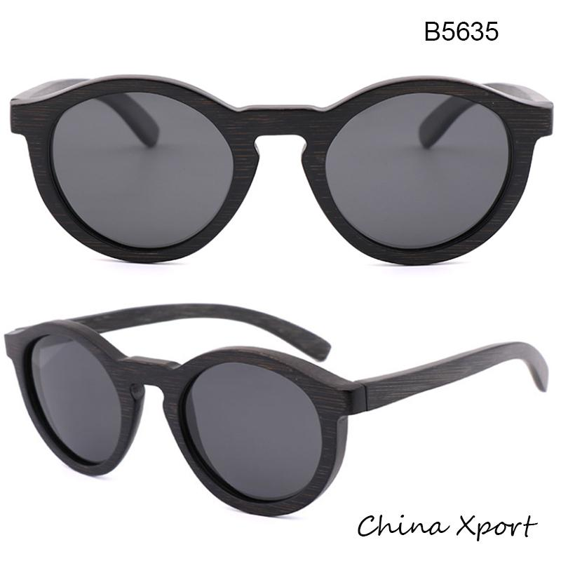 2020 round frame full bamboo sunglasses men women black bamboo sunglasses vintage style many people like ecofriendly