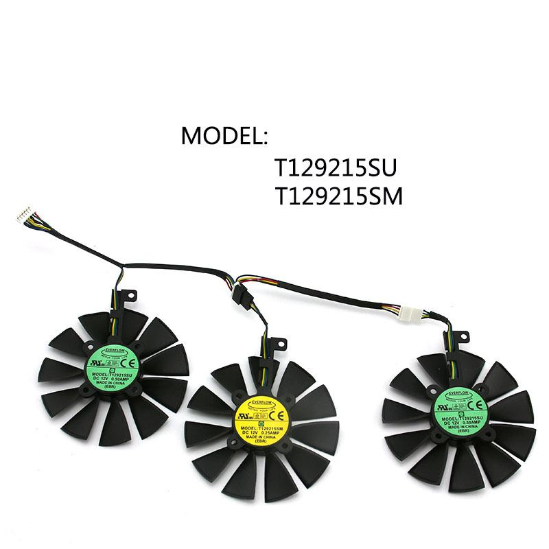 T129215SM T129215SU VGA кулера gráficos RX480 / 580 ventilador пункт ASUS STRIX R9 390X / R9 390 RX480 RX580, Refrigeracion де та
