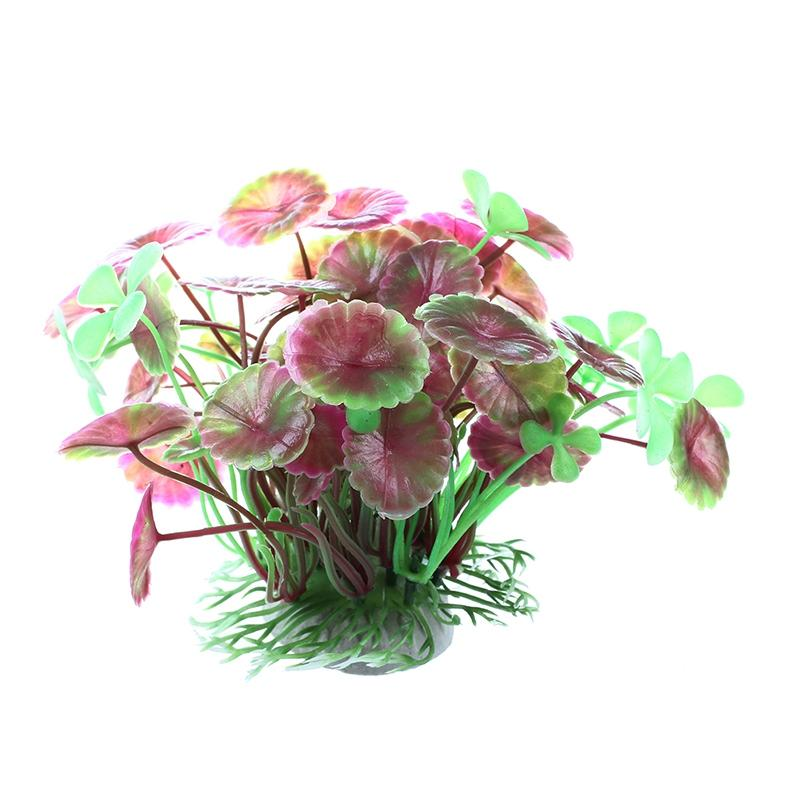 Folhas de plantas Waterscape Lotus Artificial plástico roxo Aquarium
