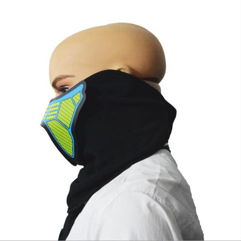 Led El flash 41 estilos de música com som ativo para Dancing Máscara equitação Patinagem de Controle de Voz máscaras do partido