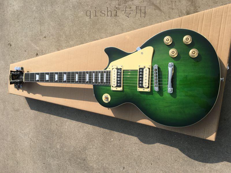 ébène guitare verte touche 22 accastillage chromé touchette refroidisse livraison gratuite guitares chinoises, accepter la coutume