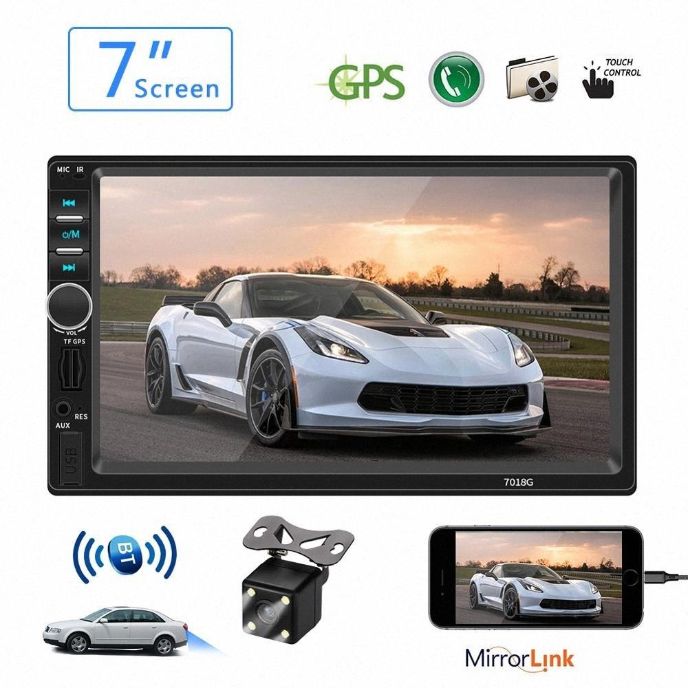 Autoradio-Multimedia-MP5 Bluetooth 7 HD GPS Touch Screen AUX Autoradio Vedio USB View Camera 2 Din Audio Stereo Receiver 94Jk #