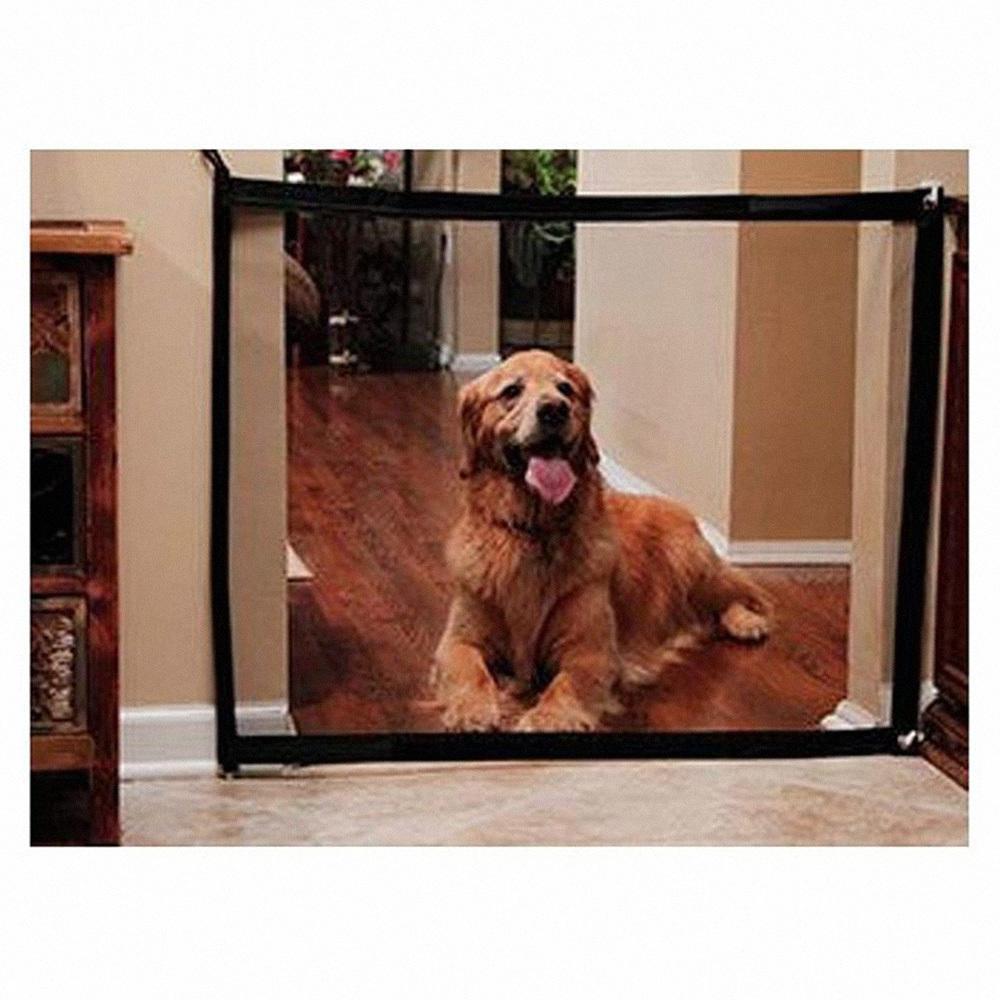 Valla Puerta perro acoplamiento mágico Pet Barrier guardia de seguridad plegable cubierta de separación al aire libre perro de perrito de proteger los suministros del recinto para mascotas