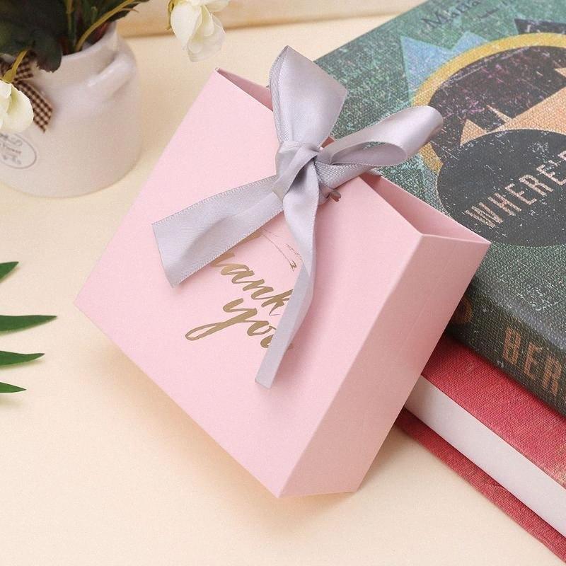 5шт Спасибо бумага конфета Шоколадных торт коробка пакет мешок подарок Свадьбы Благоприятными с лентой 2 Размеров H4GD JKWy #