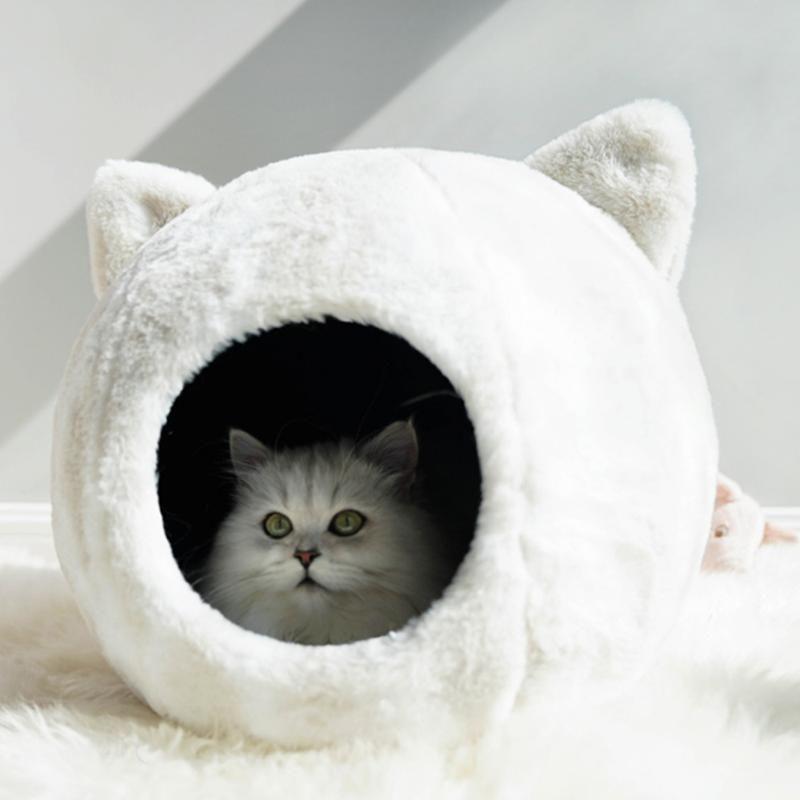 تدفئة القطة الأليفة سرير الحيوانات الأليفة وسادة بيت للصغير متوسط كبير سرير الكلاب القطط شتاء البيت جرو حصيرة الحجم M / L الجديدة
