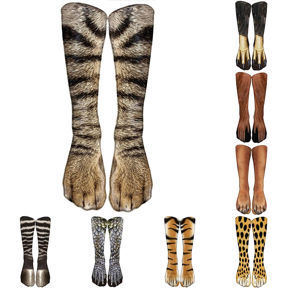3D Animal Paw Socks Cute Funny Animal Printing Kawaii Casual Elastic Breathable Crew Socks High Ankle Socks