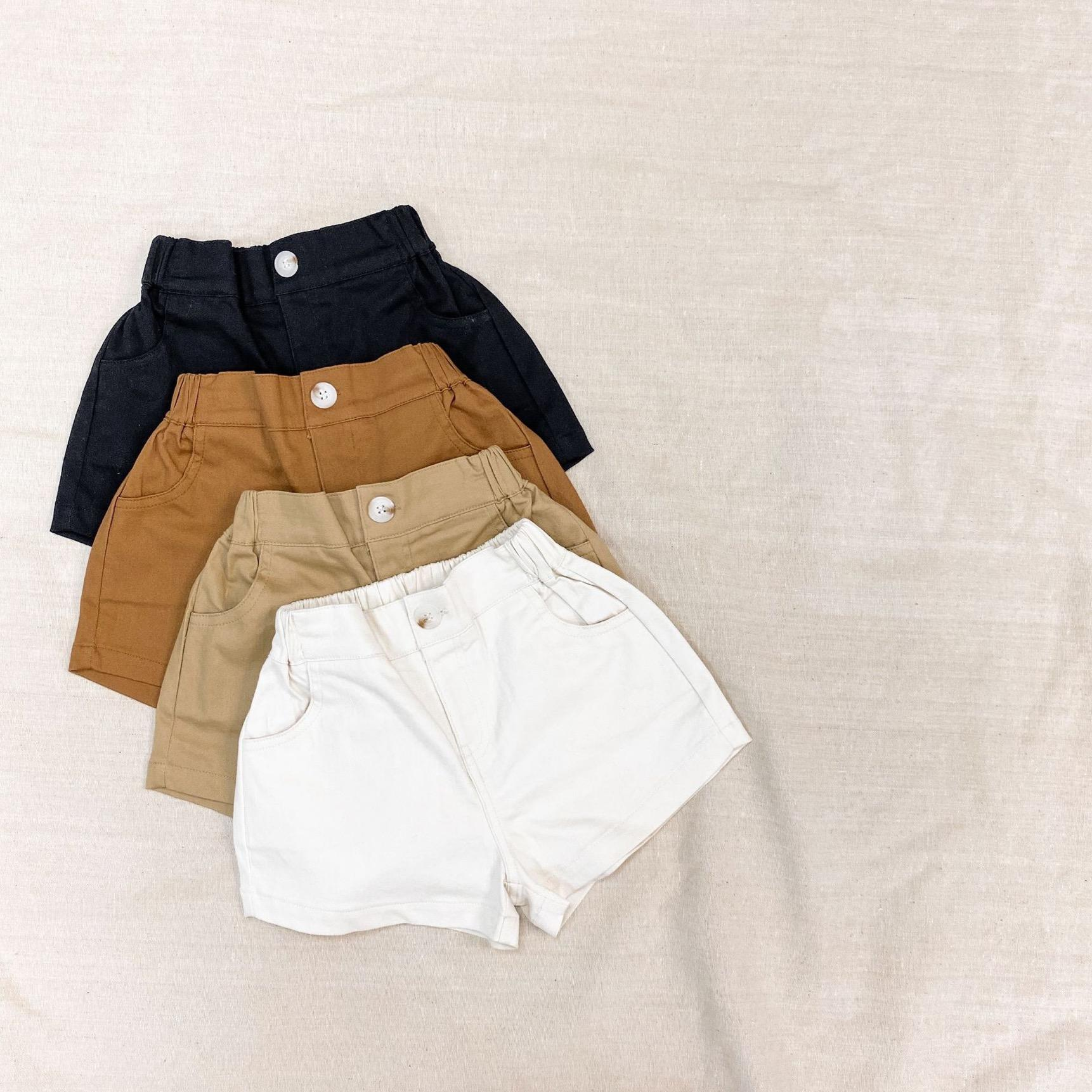 INS Kids Boys Girls Shorts Gilrs Shorts Front Buttons Quality Children Fashions Autumn Summer Unisex Clothes Shorts