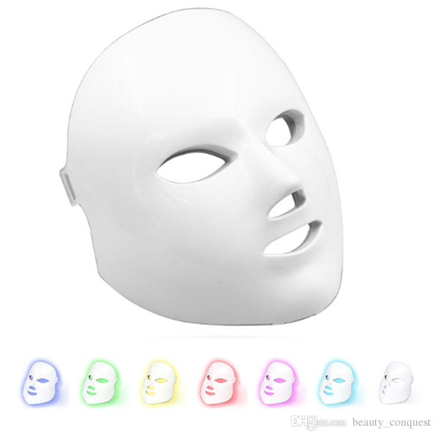 Terapi Güzellik PDT Işık Cihazı 7 Renk Led Yüz Maske Lambası Foton Işık Anti Aging Akne Kırışıklık Kaldırma Ekipmanları