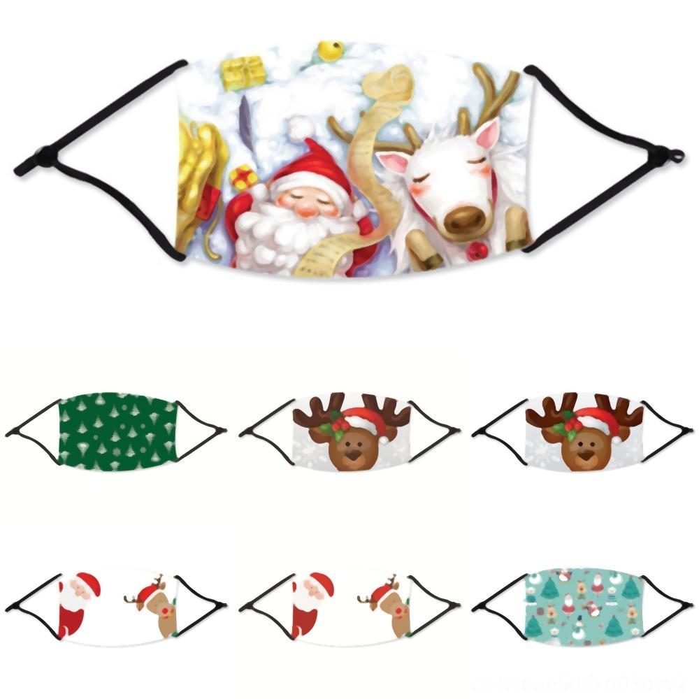 Yetişkin Karikatür Yıkanabilir ile 6DNjh maske moda Noel Noel sakal maskesi PM toz pus yıkanabilir maskesi filtresi eklenebilir maskeleri can baskılı
