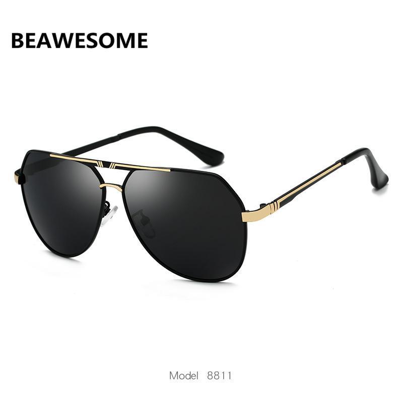 Sunglasses Women Designer Oversized Glasses Oval Brand Frame Men Sun Driving Aviation Metal BEAWESOME Mirror Glass Female Pilot Jgkoi