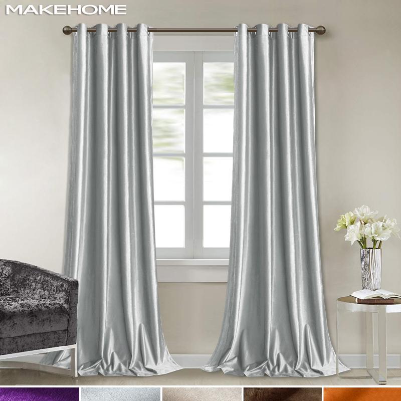 Itália veludo cortinas de janela para Tratamento cozinha Sala cortinas Multi-cores brilhantes sólidos cortinas macias para Bedroom
