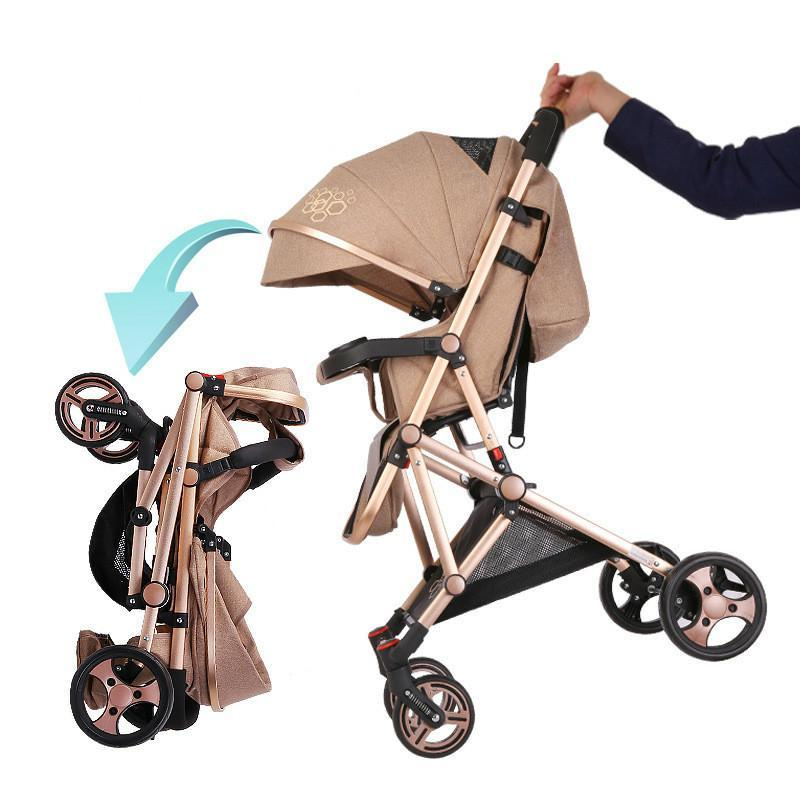 Babysing High Landscape Portable Lightweight Baby Strollers Folding Baby Pram Pushchairs Kindergarten Airplane Multifunction high chair
