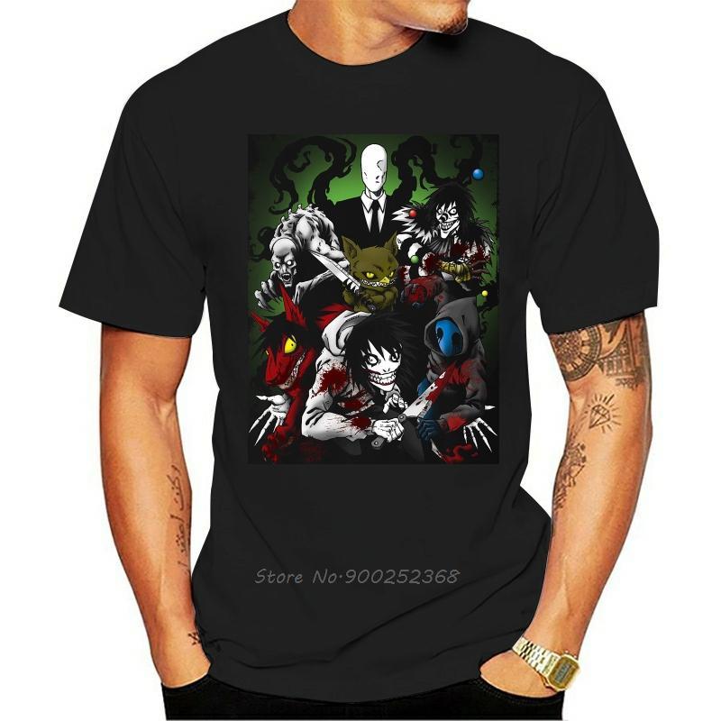 Creepypasta Family T-Shirt - Direct From New T продавцов Рубашки Топы Смешной Tee New Unisex Смешной высокого качества Повседневный печати