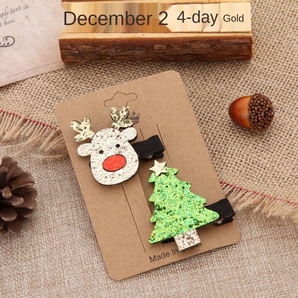 2020 Korean style set hair clip Christmas elk old man hair accessories creative decoration duckbill clip accessories hqM8R