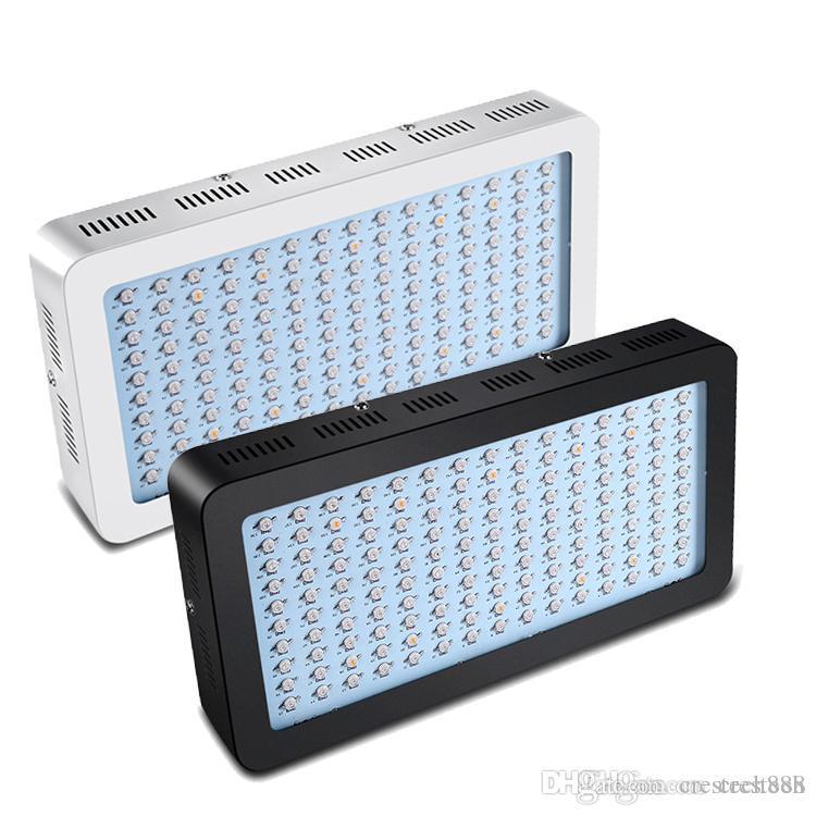 LED Corps Blanc Noir 1500W grandir Ampoule à spectre complet pour plantes d'intérieur avec UV IR 8 bandes couleur croissance Luminaire USA STOCK