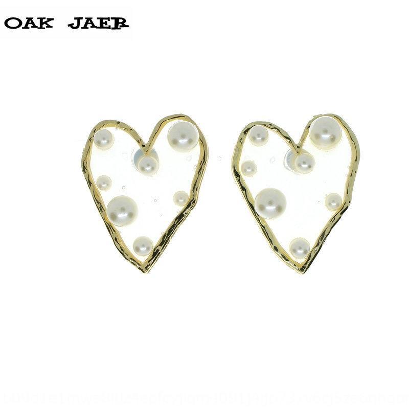 Ян Chenglin серьги DgowJ для женщин того же styleJapanese и корейского stylepersonalized преувеличена смолы Pearlheart Pearl earringsearri