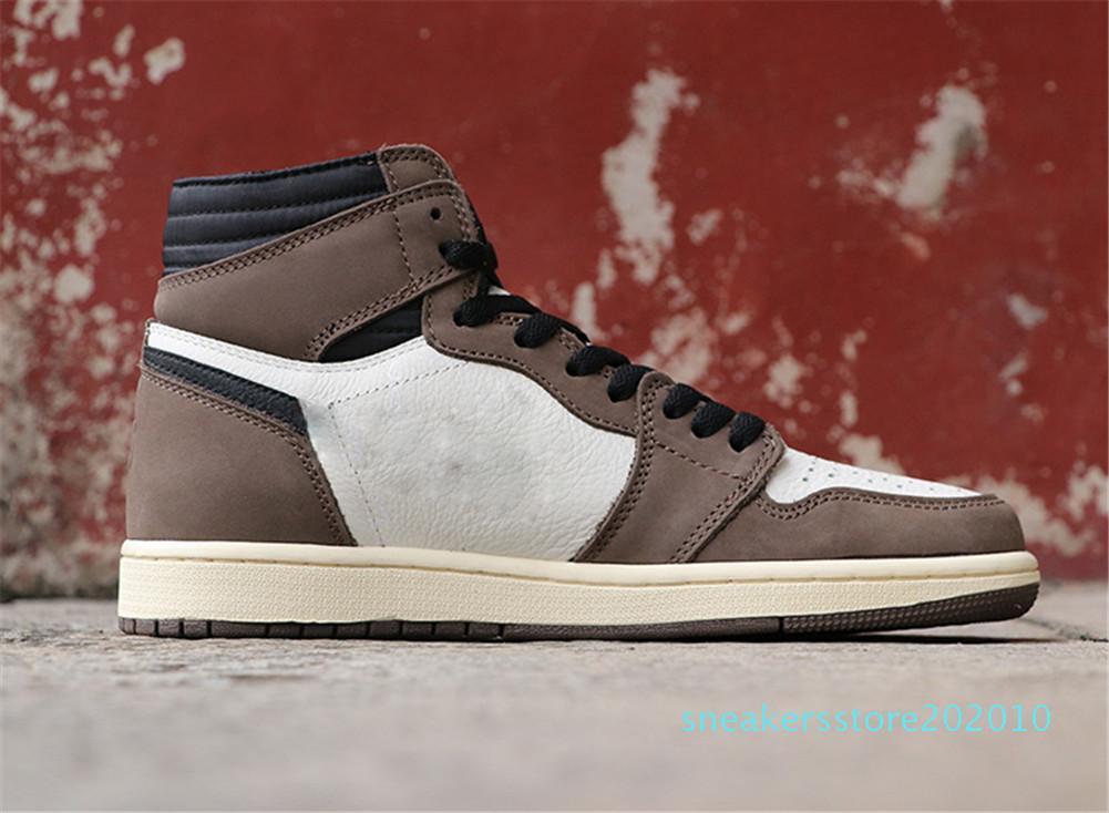 chaussures de basket-ball 1S chaussures de sport vert Brown des hommes Chicago Travis x femmes Low SP sneakers concepteur formateurs sport de luxe chaussures s10