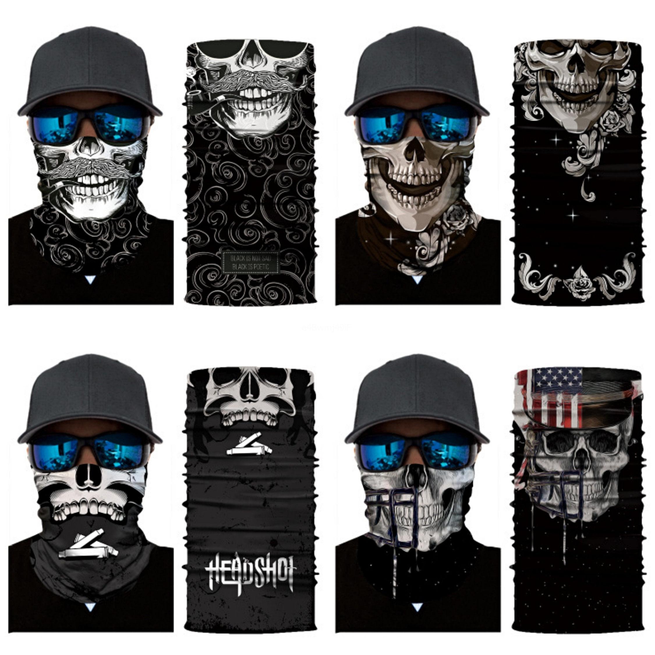 Auf Lager Magie Turban Bandanas Schädel-Gesichtsmasken Skeleton Sport im Freien Geist Halstücher Stirnband Fahrrad Motorrad-Wrap # 574