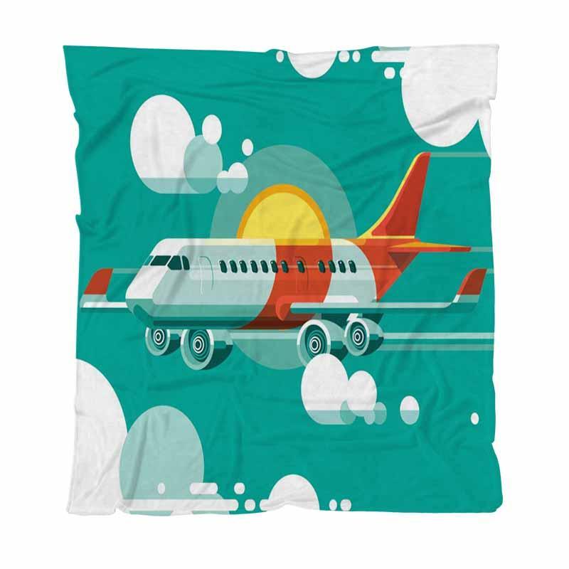 Yatak Kanepe Koltuk Açık Seyahat için bulutlar On A Hafif Sıcak Battaniye Arasında Lüks Süper Yumuşak Atma Battaniye Çınar Uçan