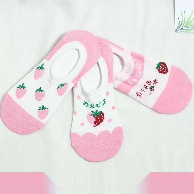 vaUJt women's invisible Korean CottonStyle Fruit strawberry Socks avocado mesh boat boat Fruit cotton k3q2q cotton socks pineapple