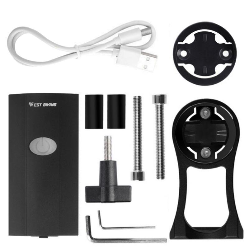 Garmin Bryton Bilgisayar Bisiklet Ön farlar için USB Şarj Su geçirmez 300LM Bisiklet ile Montaj Tutucu