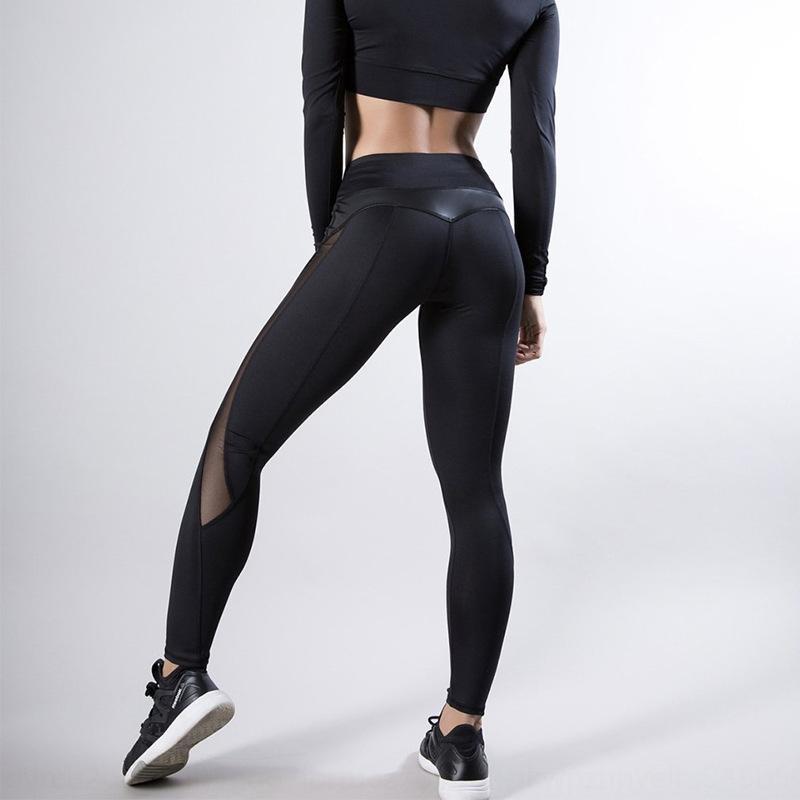 Mesh-Peeling hohe Taille Hüfte Heben läuft Fitnesshose pantsmoisture Absorptionsschweiß Yoga Gamaschen Peeling hohe Taille Hüfte li Netz