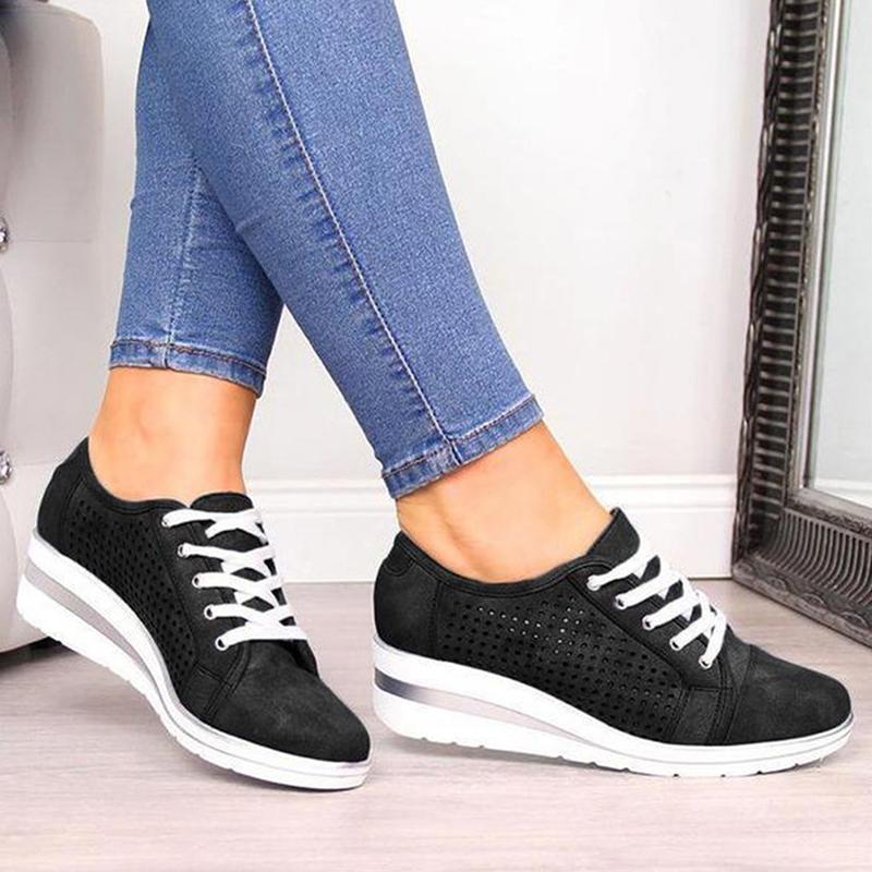 الخريف النساء أحذية أنثى الجوف تنفس شبكة أحذية عارضة للسيدات الانزلاق على أحذية بدون كعب الحذاء حتى شاطئ