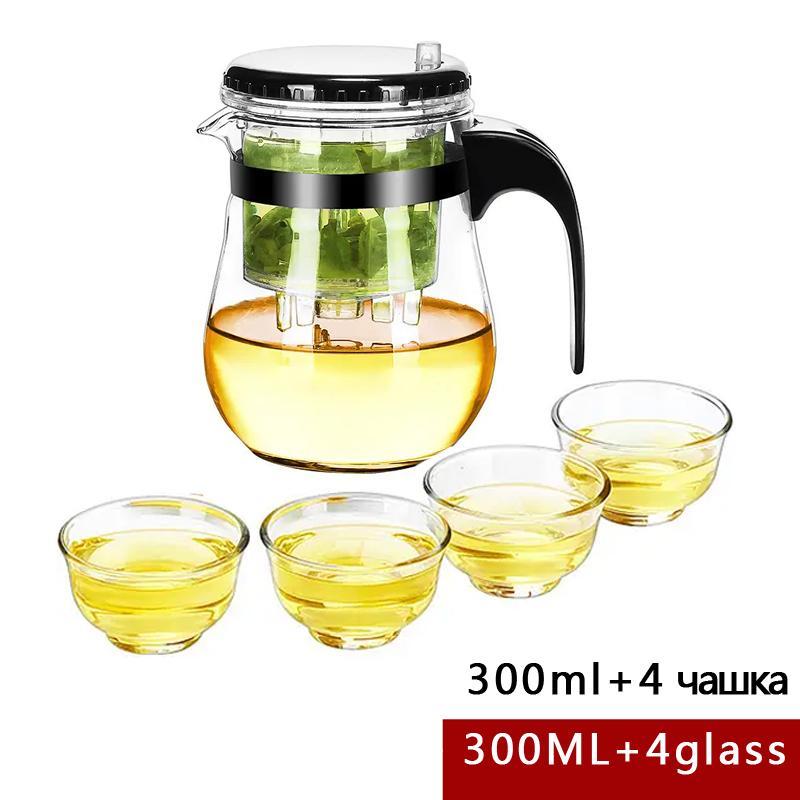 La alta calidad de cristal resistente al calor tetera china de kung fu juego de té de Puer de la caldera de café de cristal fabricante conveniente Oficina Tea Pot