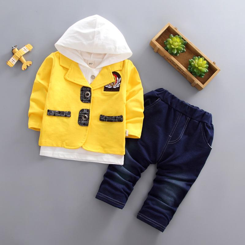 Kinder Mode Baby Jungs Kleidung Kleinkind Kleidung Baumwolle Langarm Mäntel Hoodies Tops Hosen Lässige Oberbekleidung Sets
