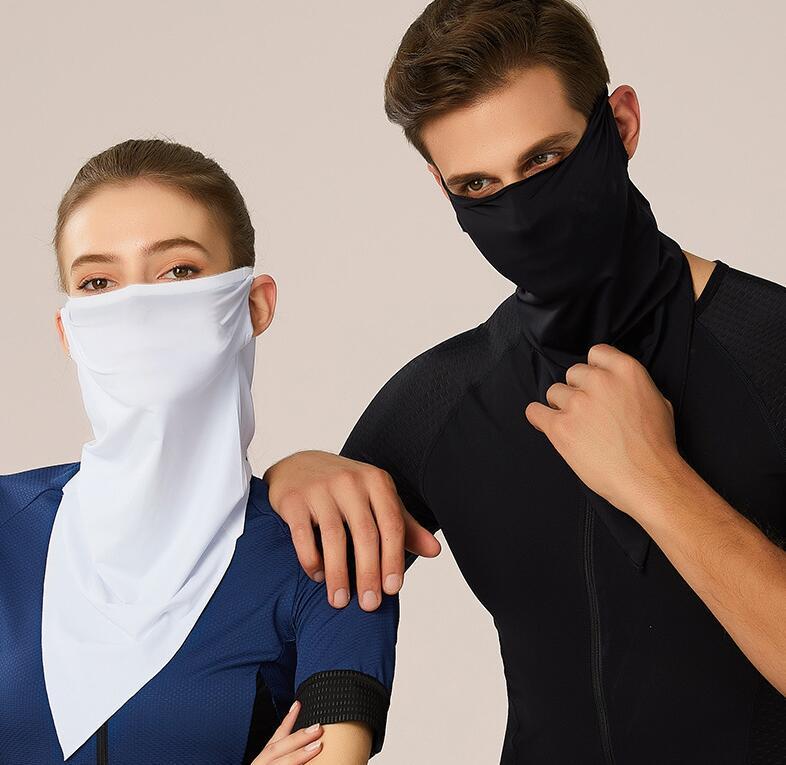 Cycling Half Designer Mask Bandana Skin Cool Ice Silk Breathable UV Protection Sports Headwear Bike Magic Headband Scarf Face Shield AAF1711
