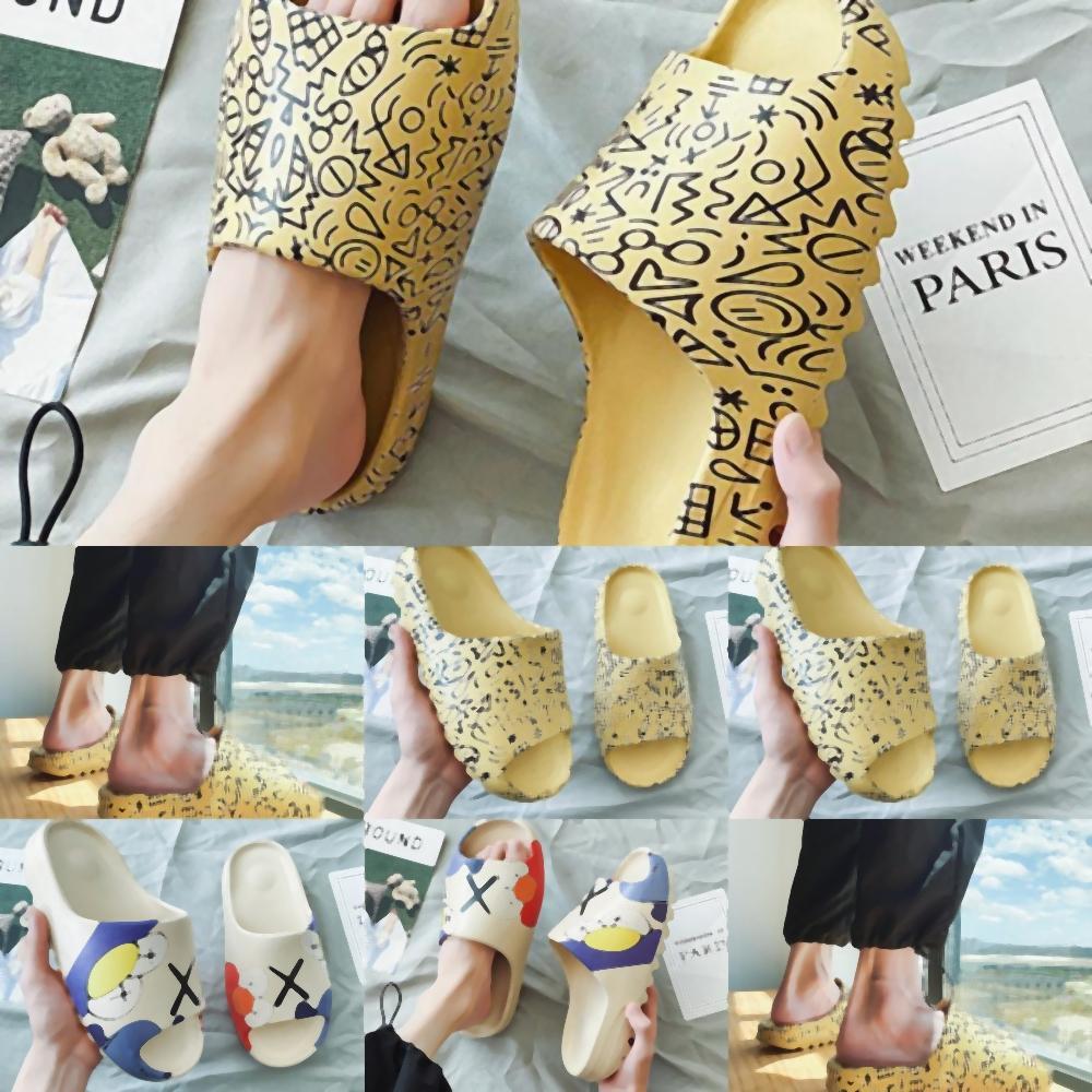Scarpe Donna 9f39g femminile esterno piatto Scivoli estivi piatto di cristallo di cocco Pantofole Sandali Sesame Street Beach Fashion sandali Casual Shoes Z