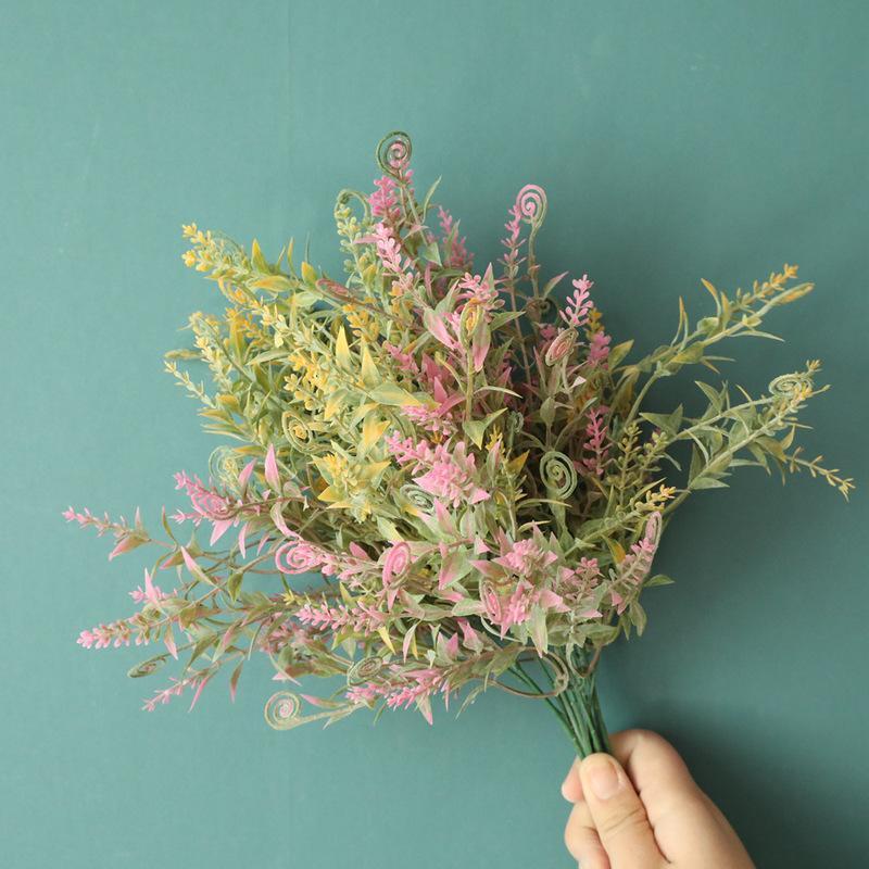 cavalluccio marino erba imitazione nozze decorazione fiore artificiale fiore ins artigianali all'ingrosso vento trasversale mw73773 border
