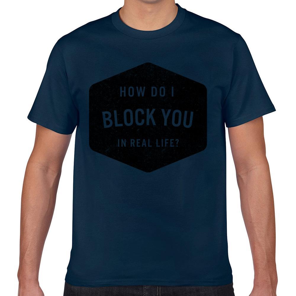 T Gömlek erkekler Nasıl Yaparım Blokaj Komik Beyaz Kısa Erkek Tişörtü Tops