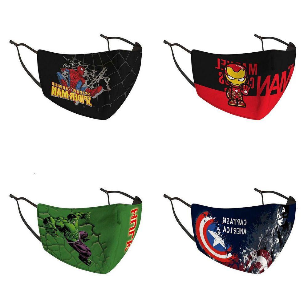 X0PS Designer Escudo Crianças máscara máscaras equitação Frio Protecção dos desenhos animados Rosto Algodão ablID myhome001