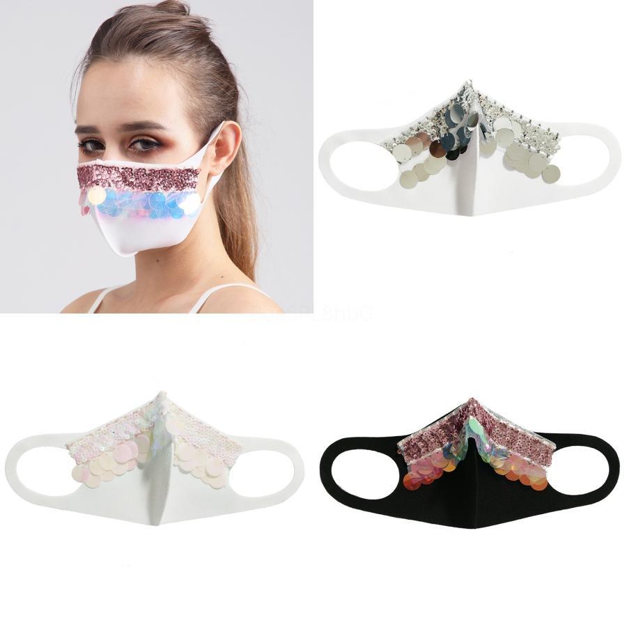 Sequin Stampa esterna di protezione maschera facciale Viso Maskswashable AndFace-Mask-lavabile Facemask Maske # 858 # 693
