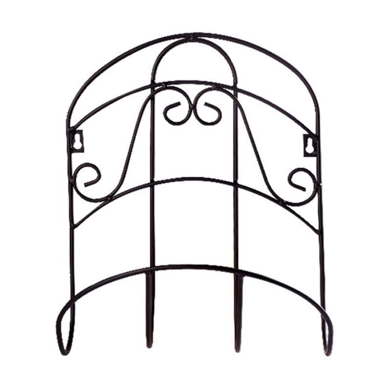 Rack de almacenamiento montado en la pared robusta Tidy Percha universal decorativo del tubo de agua de la manguera del jardín Organizador titular Hierro retro del carrete