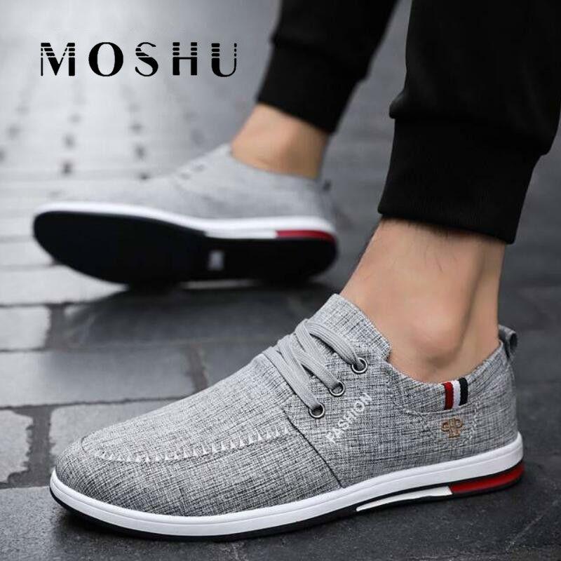 Homens sapatilhas da lona Verão Sapatos Shoes Casual condução Flats Preto Mocassin Homme Masculino Adulto Zapatos De Hombre
