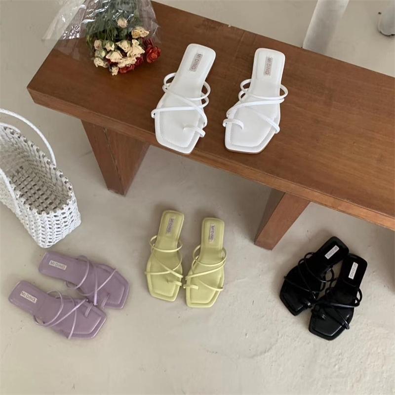 Toppies mulheres Sandálias de Verão mulheres sapatos baixos moda kroean de borracha confortável sapatos Y200620