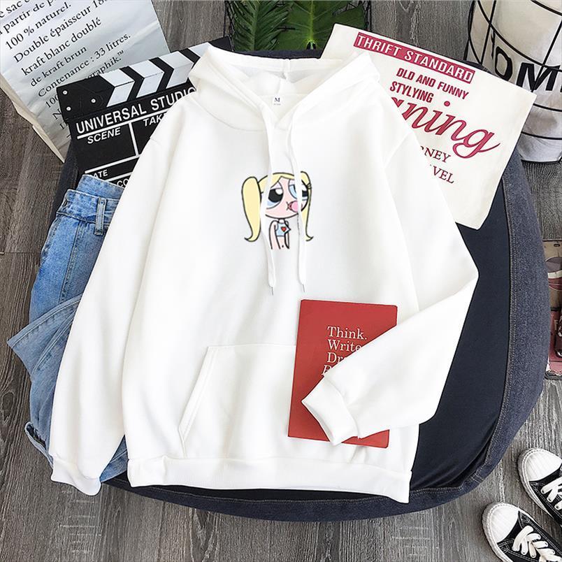Kawaii Blossom Bubbles, Hahnenfuß Cartoon nette Mädchen Muster drucken Pullover Winter-Frauen Pastellfarben Sweatshirt Turtleneck fleec