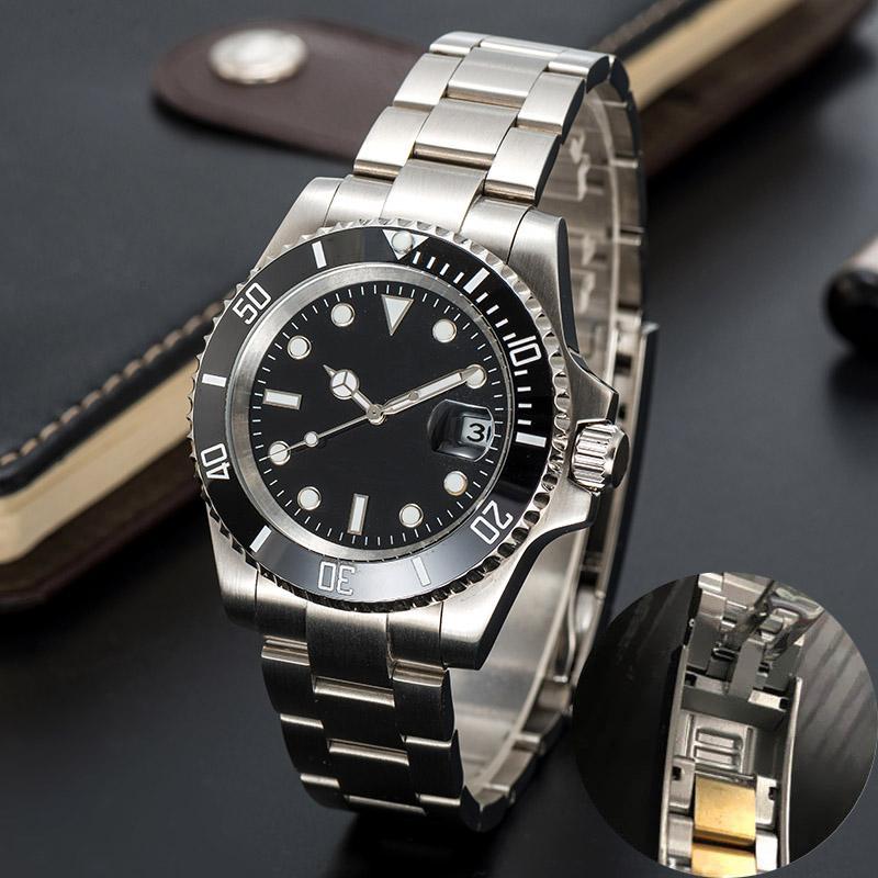 -automatische mechanische Uhren Keramik 41mm voll Edelstahl Gliding Spange Swim Armbanduhren Saphir leuchtende Uhr montre de luxe