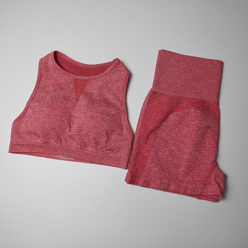 Nahtlose Yoga Set Frauen Fitness Kleidung Sportkleidung Weibliche High Waist Sport Short Reacerback Sport-BH Top 2 Stück Sportanzüge Y200904