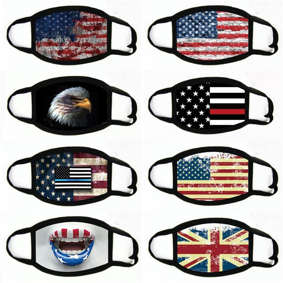 2020 Mascarillas ranura Máscaras estadounidense Elección de protección a prueba de polvo de la bandera de Estados Unidos Máscaras del algodón de la cara # 637