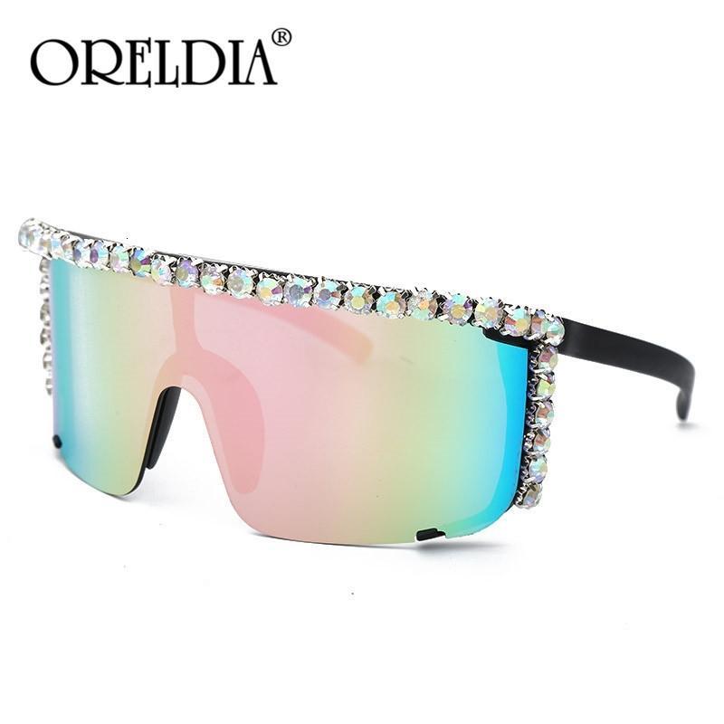 Diamante delle donne Goggle occhiali da sole vintage gradient mirror Maschera Occhiali da sole Uomini strass Occhiali Oculus Feminino De Sol Occhiali