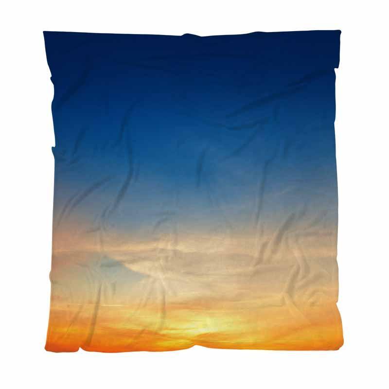 Sky lusso molle eccellente della coperta del tiro, Sky Contesto Sul Tramonto, leggera coperta calda per divano letto divano da esterni di viaggio